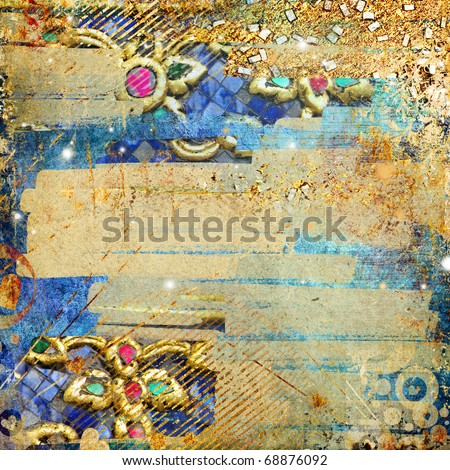 artistic abstraction - luxury golden mess - stock photo
