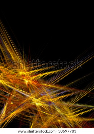 Artistic background design of random abstract lines.