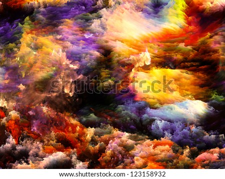 Artistic background made of dreamy forms and colors for use with projects on dream, imagination, fantasy and abstract art - stock photo