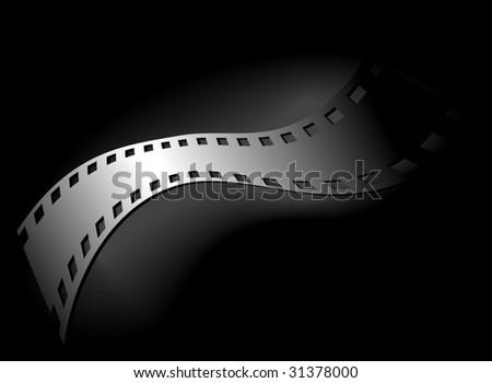 Artistic background of 35 mm film, black version - stock photo