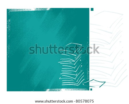 artistic background with documents motive (simplified freehand drawing)  (raster version) - stock photo