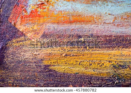 Artistic bright color oil paints texture of abstract painted artwork. Modern futuristic pattern for grunge wallpaper, interior, album, flyer cover, poster, booklet background. Creative graphic design. - stock photo