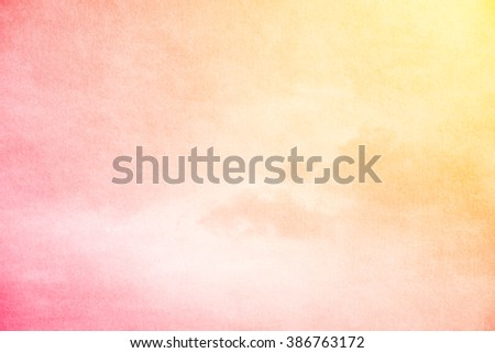 artistic fluffy cloud and sky with gradient color and grunge texture - stock photo