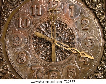 artistic old clock
