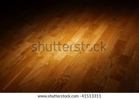 artistic parquet floor - stock photo