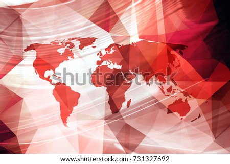 Artistic red colored world map illustration stock illustration artistic red colored world map illustration in polygonal style background gumiabroncs Gallery