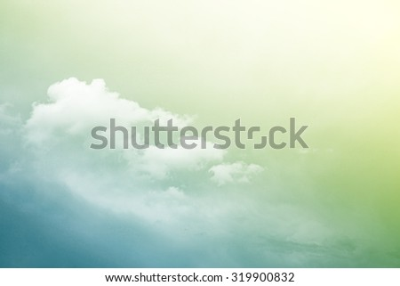 artistic sky and cloud gradient color background - stock photo