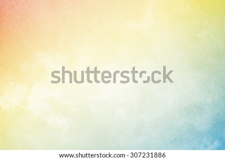 artistic soft cloud and sky with grunge paper texture - stock photo