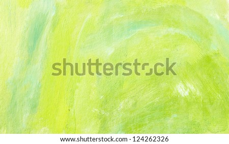 Artistic spring background with brush marks - stock photo