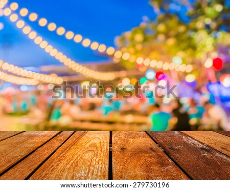 Artistic style - Defocused night street abstract texture ,blurred background with bokeh of  city on street at night. - stock photo