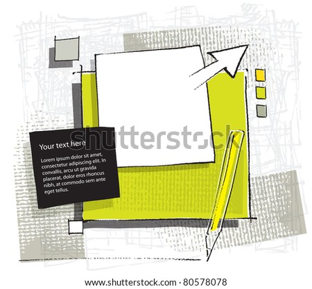 artistic variable background (raster version) - stock photo