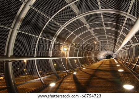 artistic walking tunnel
