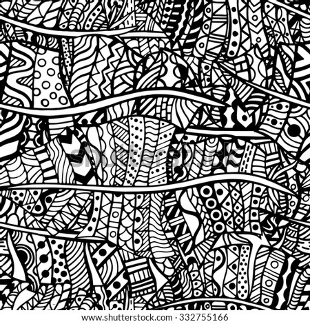 African background ethnic style handpainted stock vector for Tribal pattern coloring pages