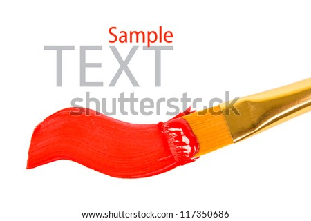 artists paint brush and paint - stock photo