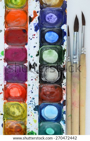 artists tools - stock photo