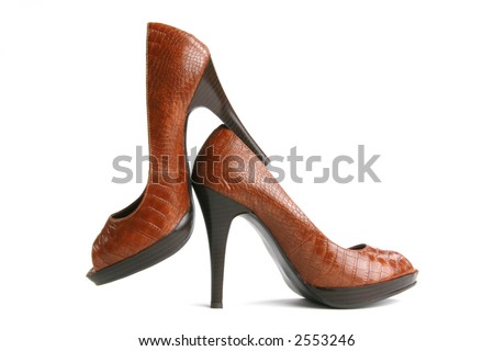 artsy side view of sexy high heels - stock photo
