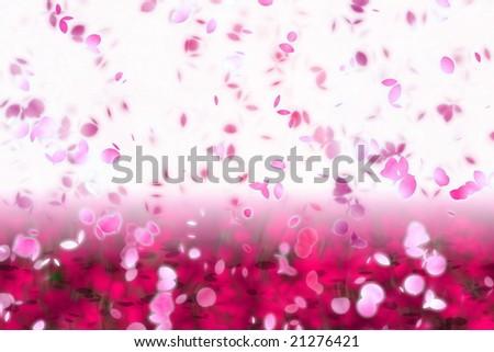 artwork inspired by the japanese cherry blossom season - stock photo