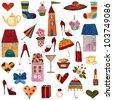 Artworks. Set of decorative elements - stock photo