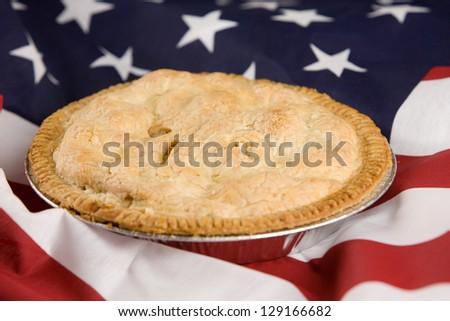 As American As Apple Pie - whole pie - stock photo