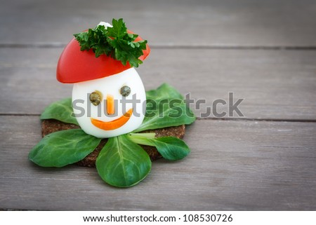 As funny guys decorated  boiled eggs. - stock photo