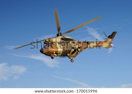 AS332 Super Puma helicopter - stock photo