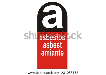 asbestos warning symbol - stock photo