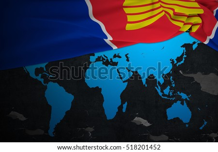 Asean economic communityflag aec world map stock illustration flag aec of world map with concrete texture dark background 3d gumiabroncs Image collections