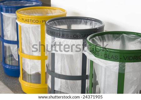 Ash can. Some Recycle container - stock photo