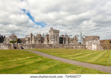 Ashford castle - Co. Mayo , Ireland - stock photo