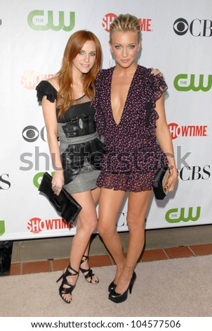 Ashlee Simpson-Wentz and Katie Cassidy  at the CBS, CW and Showtime All-Star Party. Huntington Library, Pasadena, CA. 08-03-09