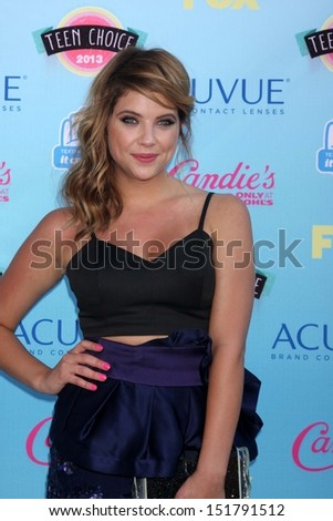 Ashley Benson at the 2013 Teen Choice Awards Arrivals, Gibson Amphitheatre, Universal City, CA 08-11-13 - stock photo