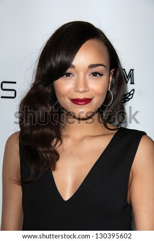 Ashley Madekwe at Harper's Bazaar Celebrates The Launch Of The Dukes of Melrose, Sunset Tower, West Hollywood, CA 02-28-13 - stock photo