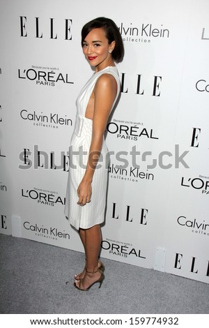 "Ashley Madekwe at the Elle 20th Annual ""Women In Hollywood"" Event, Four Seasons Hotel, Beverly Hills, CA 10-21-13 - stock photo"