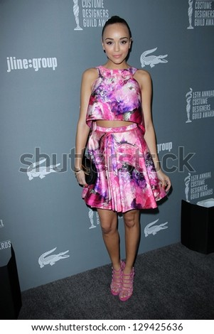 Ashley Madekwe at the 15th Annual Costume Designers Guild Awards, Beverly Hilton, Beverly Hills, CA 02-19-13 - stock photo