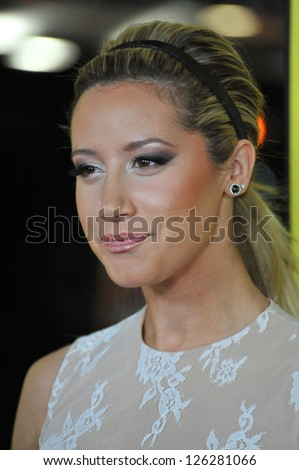 "Ashley Tisdale at the Los Angeles premiere of ""Movie 43"" at Grauman's Chinese Theatre, Hollywood. January 23, 2013  Los Angeles, CA Picture: Paul Smith"