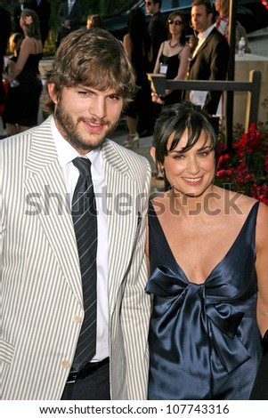 Ashton Kutcher and Demi Moore  at the 7th Annual Chrysalis Butterfly Ball. Private Residence, Los Angeles, CA. 05-31-08