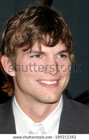 Ashton Kutcher at A Lot Like Love premiere, Clearview Cinema, New York, NY, April 18, 2005 - stock photo