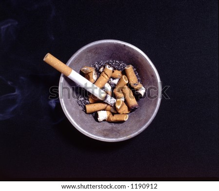 ashtray - stock photo