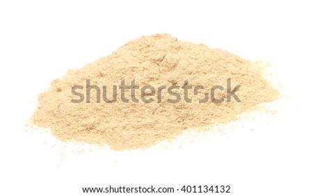 Ashwagandha pile isolated on white  - stock photo