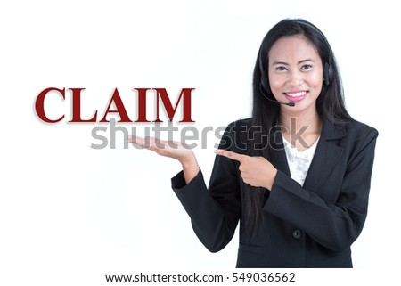 Asia call center woman in black business suit