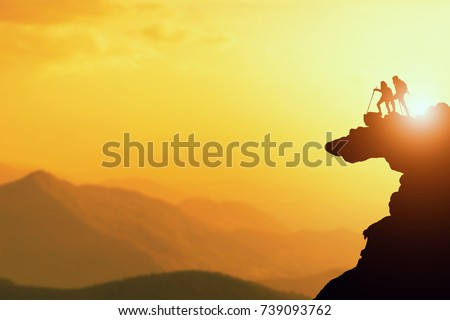 Mountains Silhouette Stock Images RoyaltyFree Images Vectors - This man hikes up the transylvanian mountains every morning to photograph sunrise
