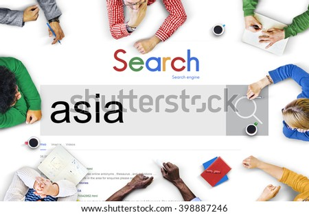 Asia East Continent Geography Location Concept - stock photo