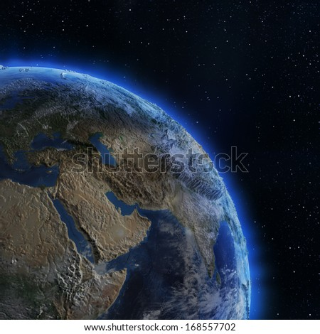 Asia from space. Elements of this image furnished by NASA