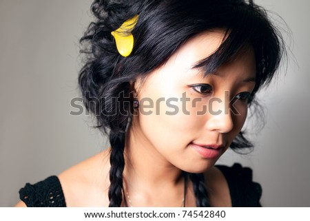 Asia girl close up shoot. - stock photo