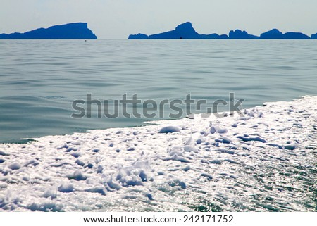 asia myanmar kho phangan bay isle froth foam  sun beam in thailand and south china sea