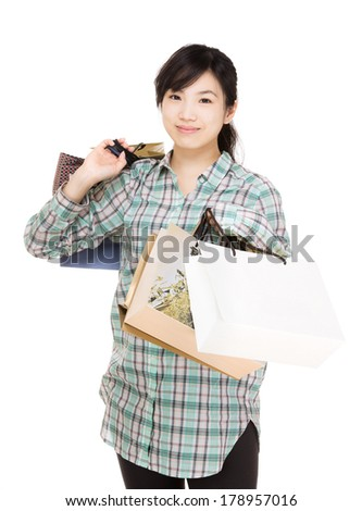 Asia shopaholic - stock photo