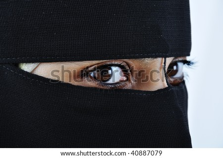 Asian arabic muslim woman with significant clothes - stock photo