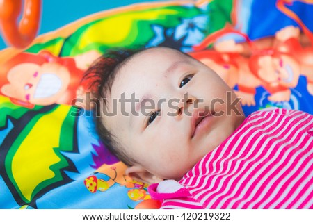 Asian baby cute boy newborn