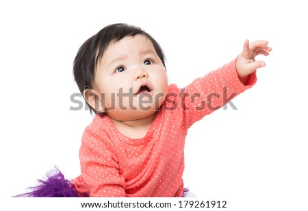 Cute Baby Reaching Smiling Stock Images, Royalty-Free ... Cute Baby Pointing Finger