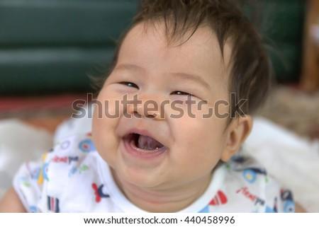 Asian Baby : Soft Focus - stock photo
